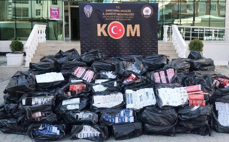 43.500 Paket kaçak sigara yakalandı
