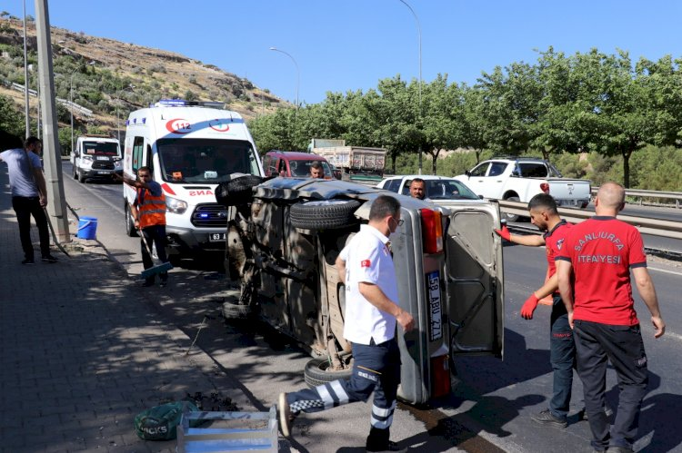 Akabe TOKİ yolunda kaza: 2 yaralandı!