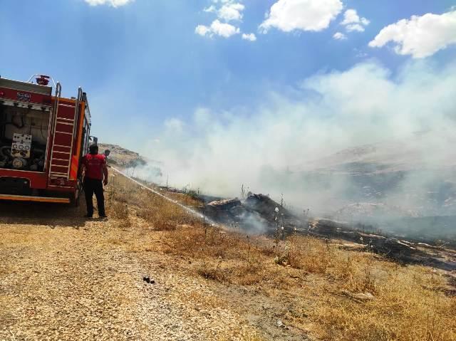 Akabe'de dağlık alanda yangın