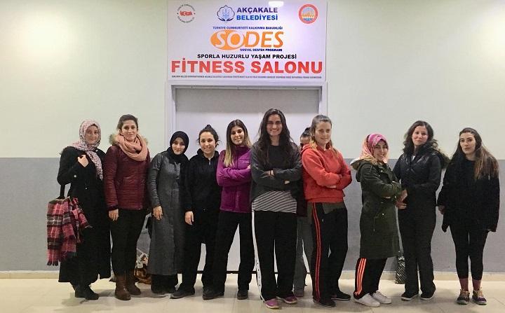 Akçakale'de kadınlara özel fitness kursu