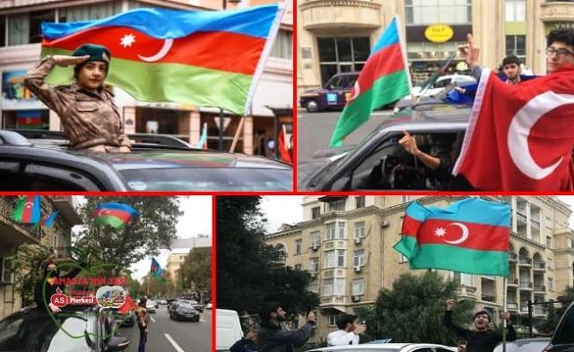 Azerbaycan'da sevinç, Ermenistan'da protesto gösterileri