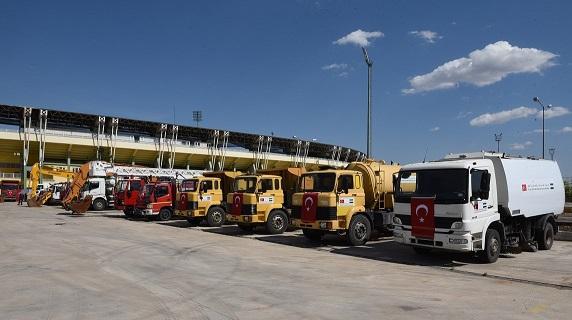 Barış Pınarına Araç ve Makine Desteği Belediyelerden Geldi