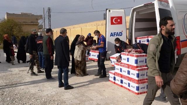 Barış Pınarında 2020'de 426 İnsani Yardım Organize Edildi
