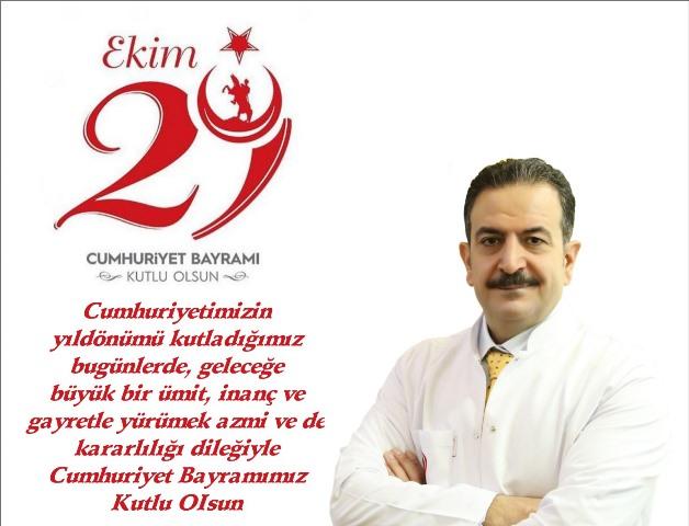 Başhekim Mardinli, 29 Ekim Cumhuriyet Bayramı'nı kutladı