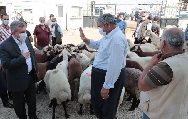 Başkan Beyazgül Hayvan Borsası Esnafını Ziyaret Etti