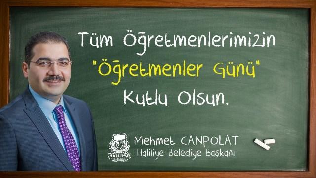 Başkan Canpolat'tan 24 Kasım Öğretmenler Günü Mesajı