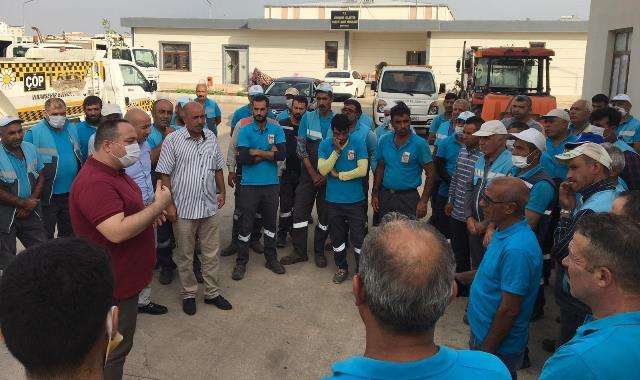 Başkan Ekinci Belediye Çalışanları Ziyaret Etti