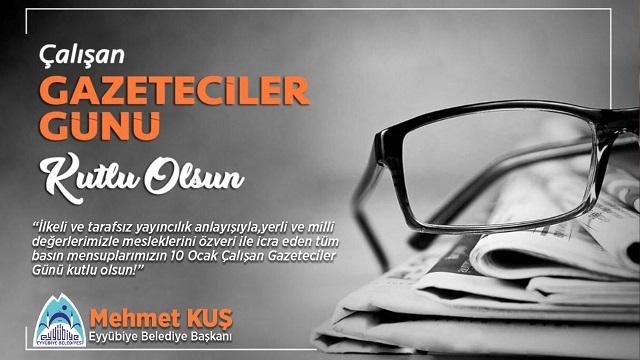 Başkan Kuş'tan 10 Ocak Çalışan Gazeteciler günü mesajı.