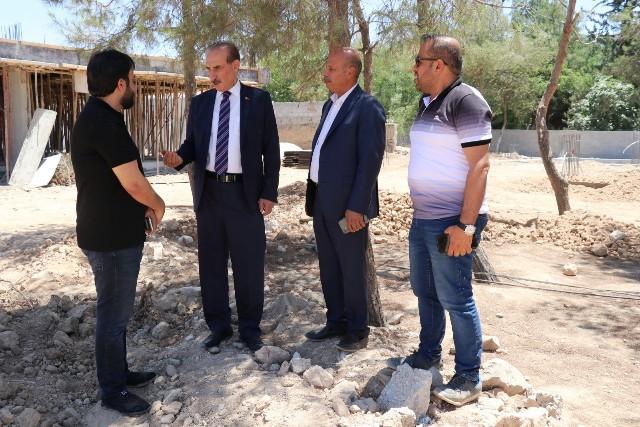 Başkan Yalçınkaya Okulların İnşaatını İnceledi