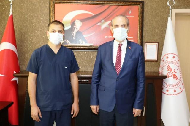 Başkan Yalçınkaya'dan Başhekime Hayırlı Olsun Ziyareti