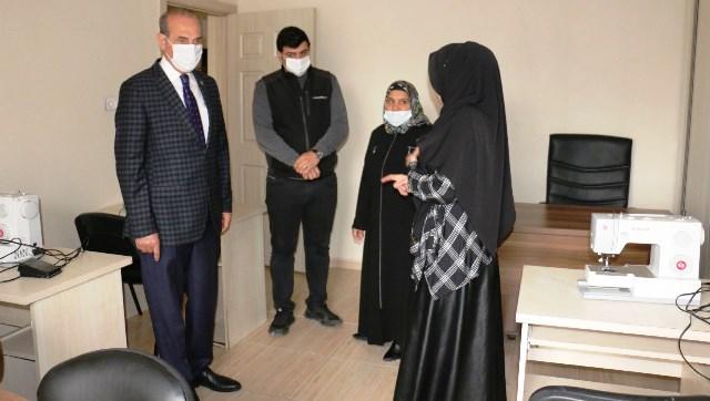 Başkan Yalçınkaya'dan Kadın Destek Merkezine Ziyaret