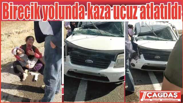 Birecik yolunda trafik kazası: 1 yaralı