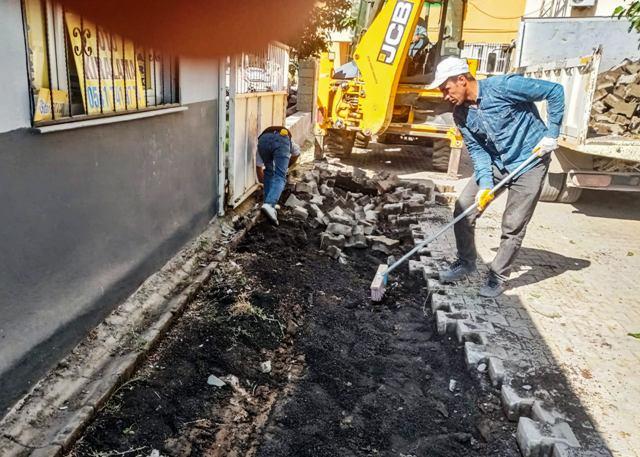 Ceylanpınar'da sokaklar parke taşı ile döşeniyor