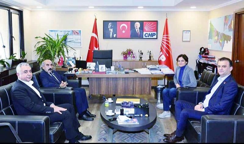 CHP Şanlıurfa İl Başkanı Cidir'den Kaftancıoğlu'na ziyaret