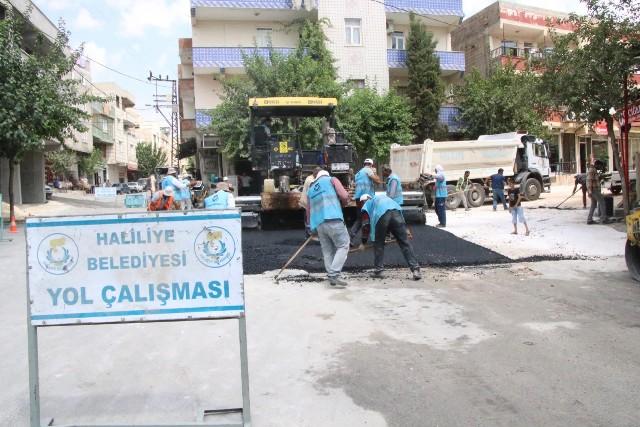Demir İzzet Caddesinde Asfalt Çalışması