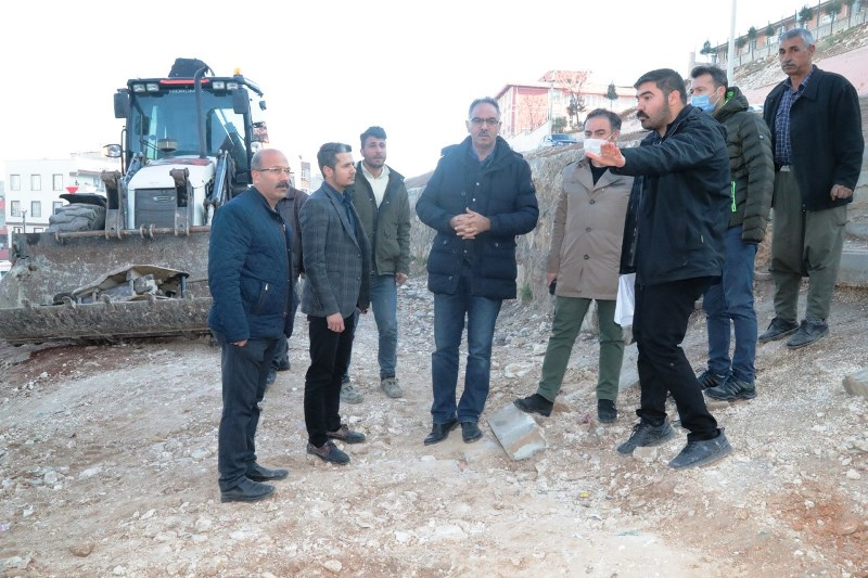 Eyyübiye Belediyesi 15 Temmuz'da şelale ve park yapımına  başladı.