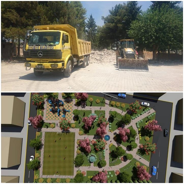 Eyyübiye belediyesi, yeni bir projeye daha başladı.