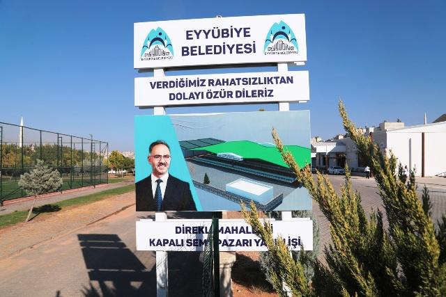 Eyyübiye Belediyesi ilçeye yeni semt pazarları kazandırıyor.