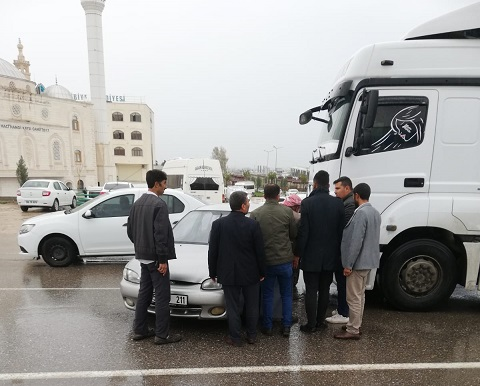 Eyyübiyede maddi hasarlı trafik kazası