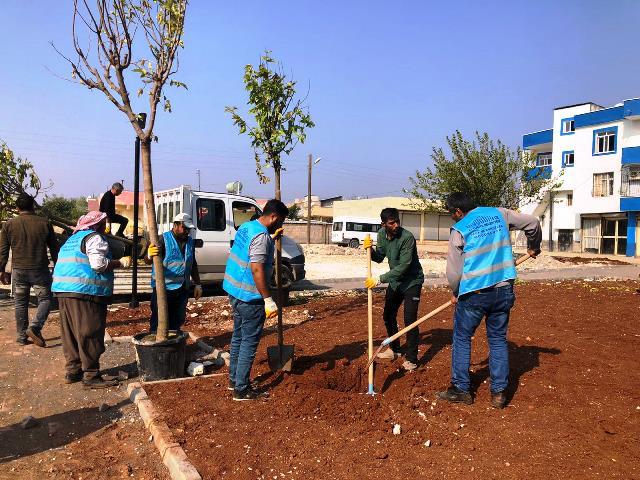 Eyyübiye'de Millet Bahçesi yapımı devam ediyor