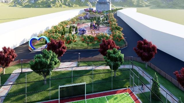 Eyyübiye'de yaşam parkı çalışmalarına başlandı.