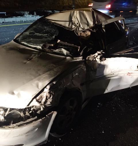 Freni Patlayan Kamyonet kaza yaptı: 1 ölü 4 yaralı