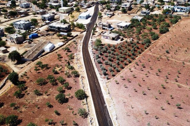 Halfeti kırsal yollarında asfalt seferberliği