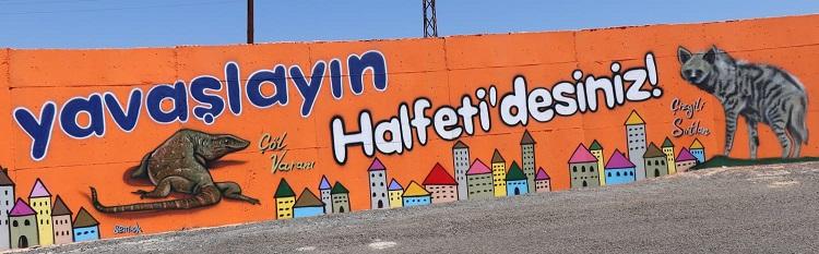 Halfeti'ye Gelenlere Renkli Karşılama