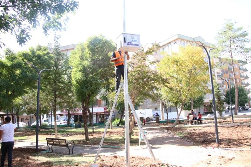 Haliliye'de parklarda sonbahar hazırlığı