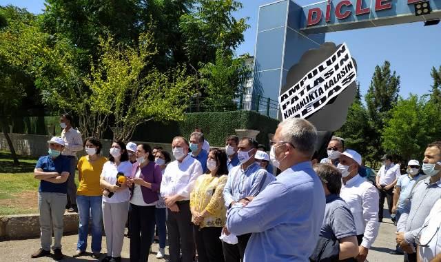 HDP Heyetinden DEDAŞ'a siyah çelenk