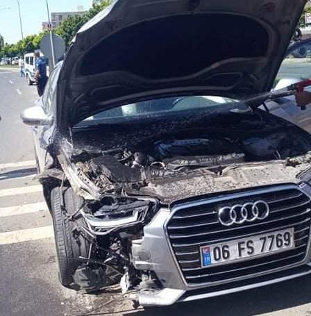 Hilvan'da maddi hasarlı kaza