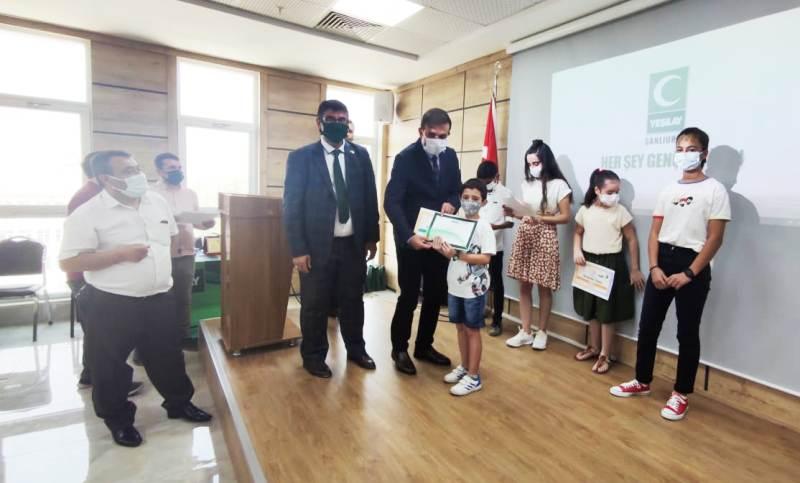 İl Milli Eğitim Müdürlüğü'nde ödül töreni