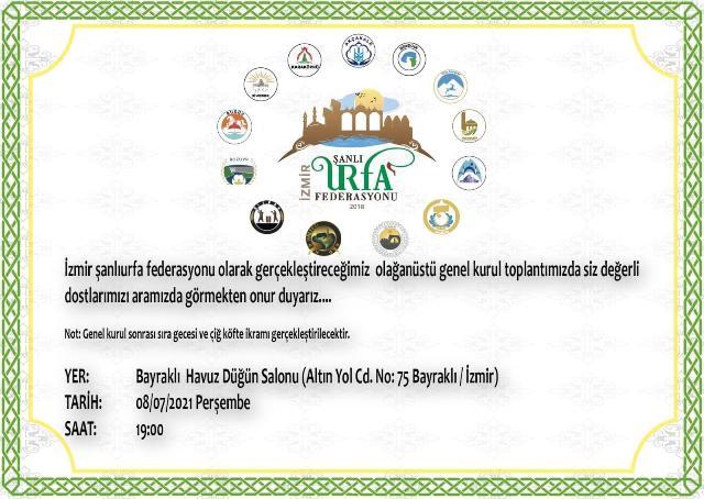 İzmir Şanlıurfa Federasyonu Kongreye gidiyor