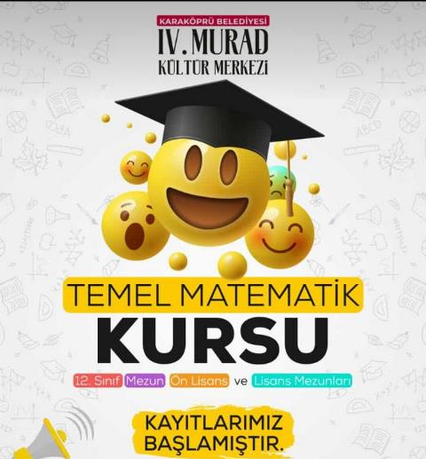 Karaköprü Belediyesinden Öğrencilere Matematik Kursu Müjdesi