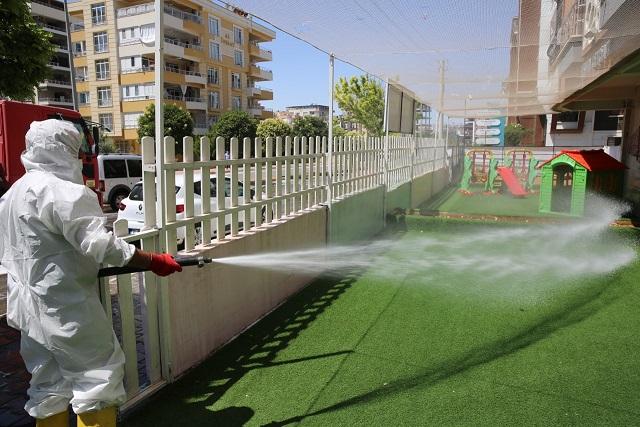 Karaköprü'de Dezenfekte Çalışması Tam Hız Devam Ediyor
