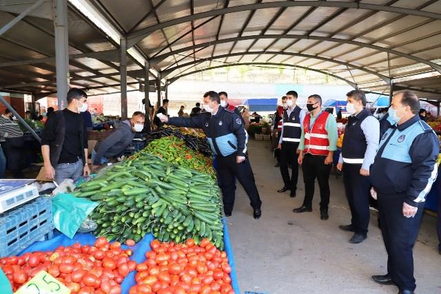 Karaköprü'de Pandemi Denetimleri Sıkı Tutuluyor