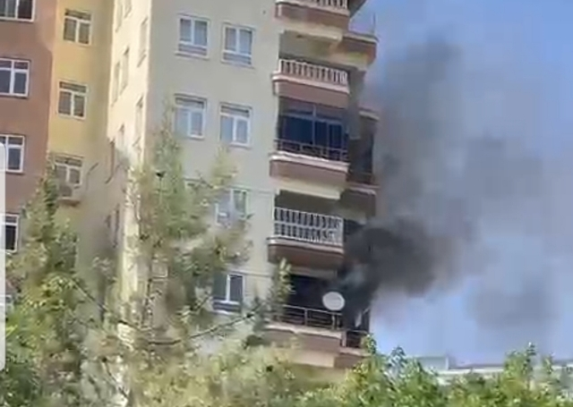 Karaköprü'de yangın paniği