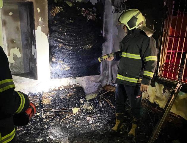 Kısas'ta yanan ev söndürüldü