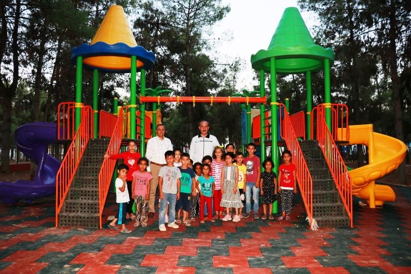 Mesire Alanında Çocuk Parkı Ve Spor Aletleri Kuruldu