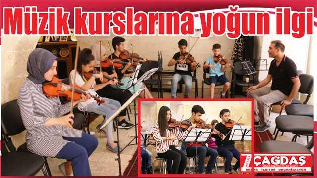 Müzik kurslarına yoğun ilgi