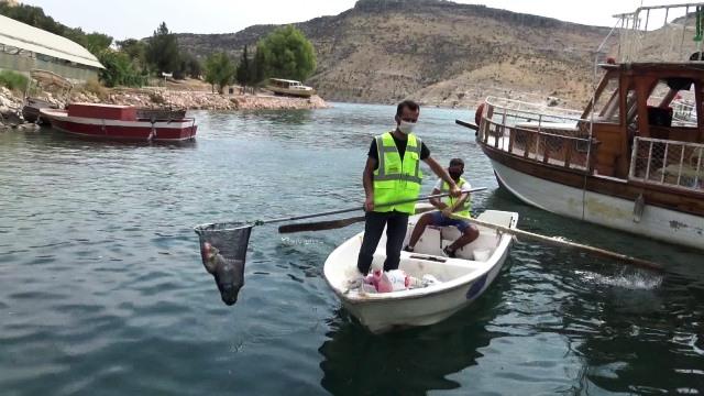 Saklı Cennet Halfeti'de Marina Temizliği