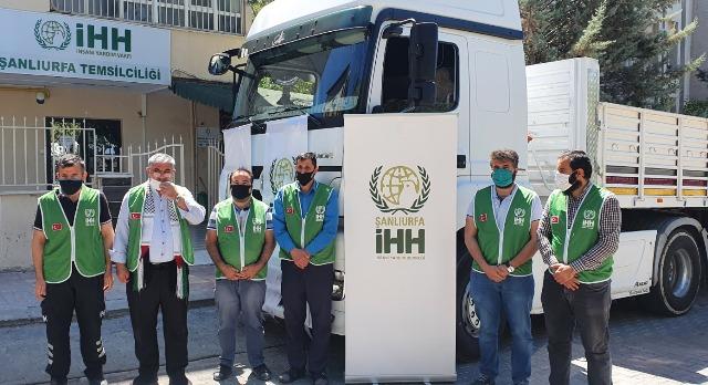 Şanlıurfa İHH'dan Mescidi Aksa'ya ithafen İdlib'e yardım tırı