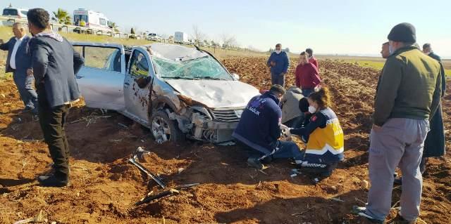 Şanlıurfa Mardin Yolunda kaza 6 yaralı