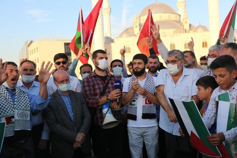 Şanlıurfa'da STK'lardan Filistine destek konvoyu
