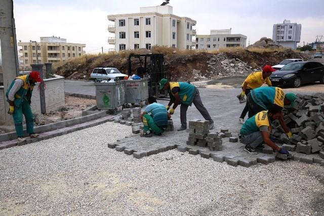 Seyrantepe'de Kilitli Parke Çalışmaları Sürüyor