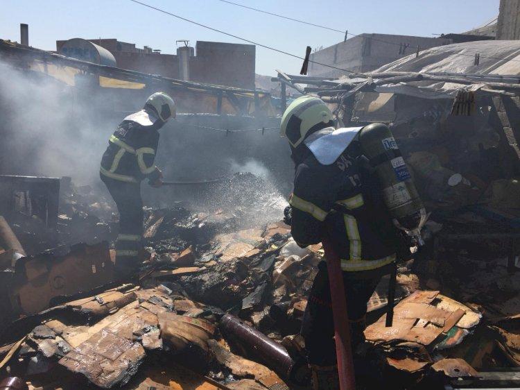 Süleymaniye'de yangın eşyalar cayır cayır yandı!
