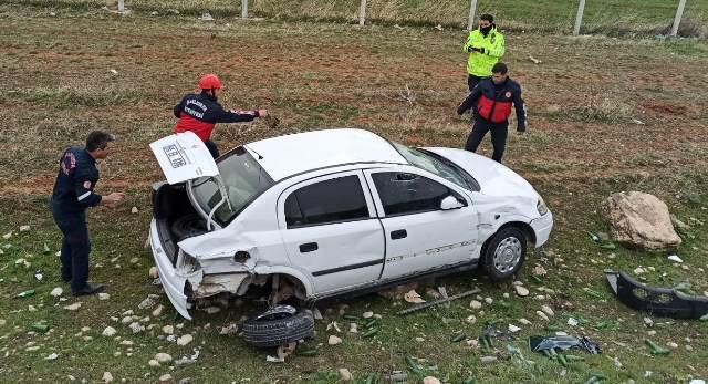 Suruç Yolunda Kaza 2 yaralı