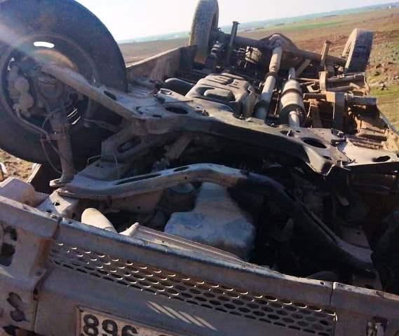 Takla atan araçta 5 kişi yaralalandı
