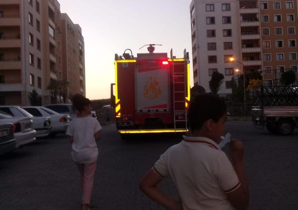 TOKİ Maşuk'ta yangın korkuttu