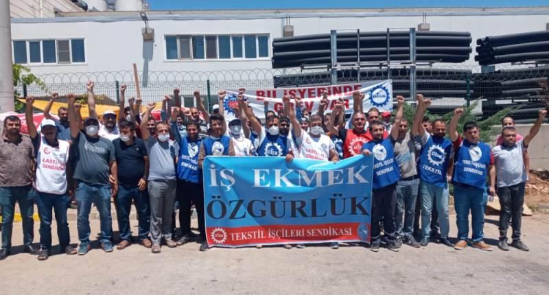 Türkmen'den grevdeki işçilere dayanışma ziyareti